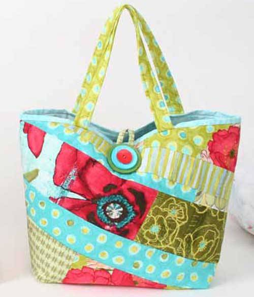 Quilting Purse Patterns Free : Scrappy Bag - Free Sewing Pattern