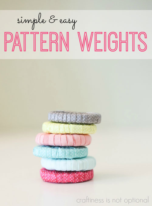 Free Sewing Pattern and Tutorial - Simple and Easy Pattern Weights