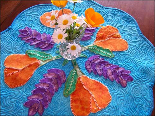 Spring Flower Tablemat – Free Quilting Tutorial
