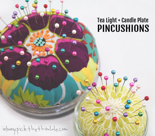 Tea Light & Candle Plate Pincushions - Free Sewing Tutorial