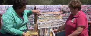 Rag Rug Weaving with Fabric Strips