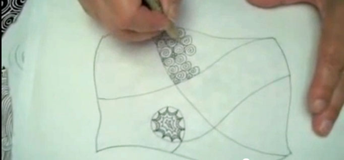 How to Zentangle on Fabric