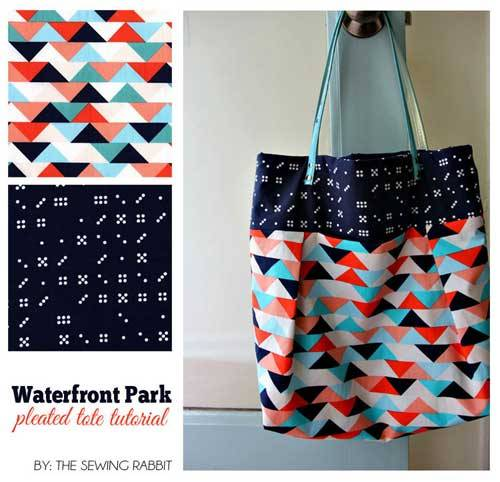 Waterfront Park Pleated Tote Bag