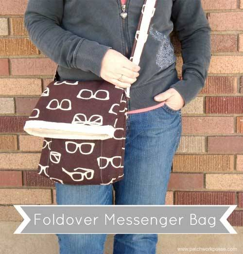 Foldover Messenger Bag - Free Sewing Tutorial