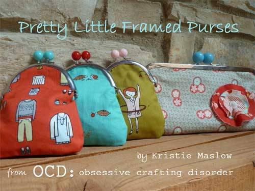 Free Sewing Tutorial - Pretty Little Framed Coin Purses