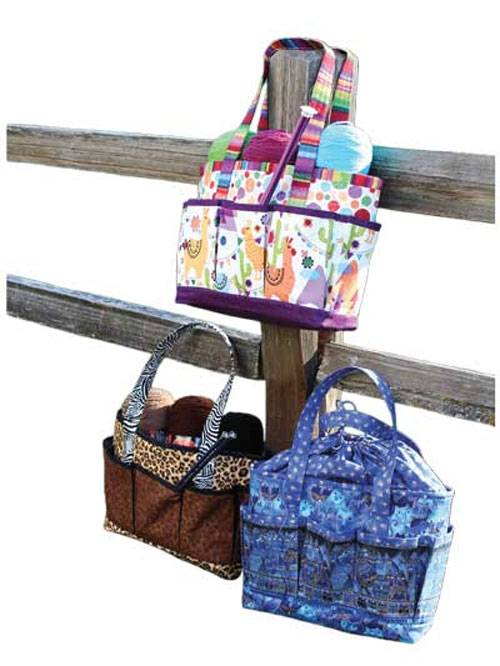 This tote bag has plenty of room and features lots of pockets both inside and outside for organizing and storing your supplies.