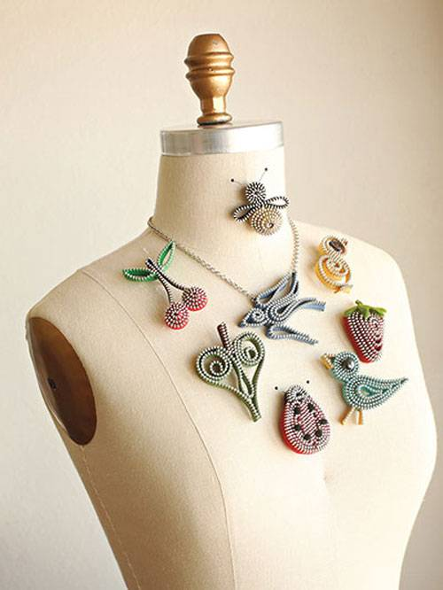 Spice up your wardrobe and learn how to make fun, flirty and unique jewelry – using zippers!