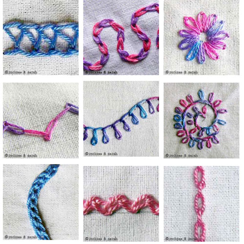 Learn how to Sew Hand Embroidery Stitches