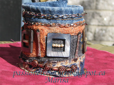 Handmade Jewelry: Upcycled Jeans Cuff Tutorial