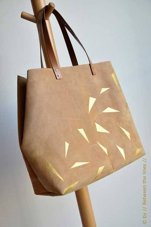 Leather and Gold Bag