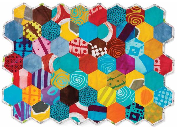 Free Quilt Pattern - Mini Hexagon Quilt