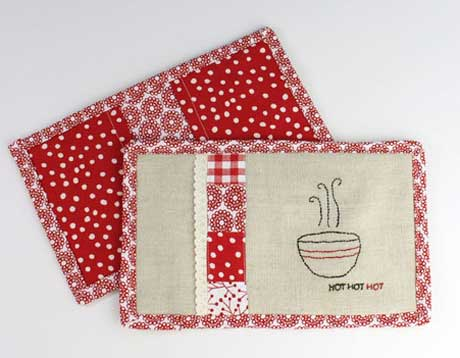 Free Sewing Pattern - Patchwork Hot Pads