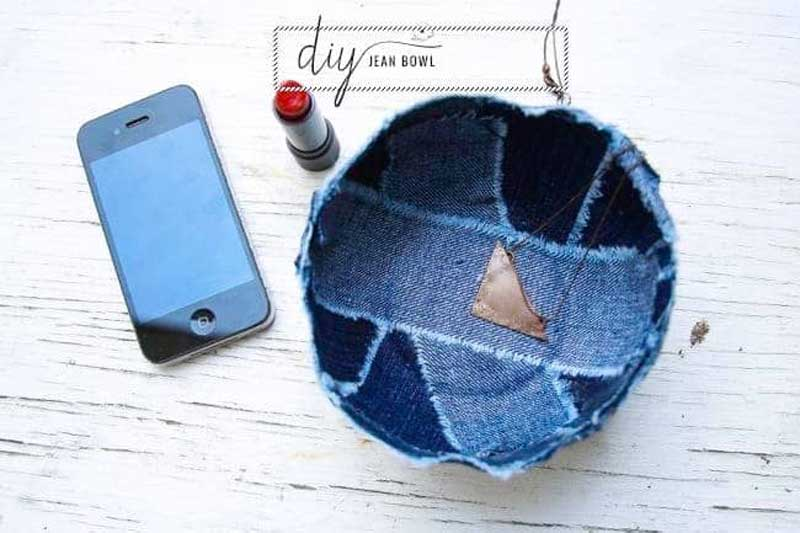 Free Sewing Pattern and Tutorial - Patchwork Jean Bowl