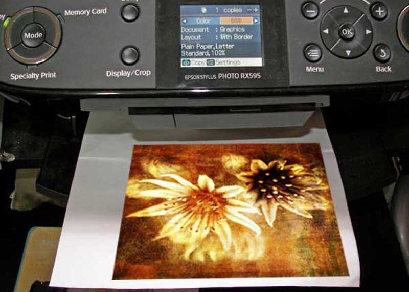 Learn how to print on fabric using an inkjet printer