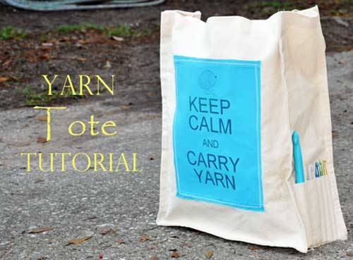 Keep Calm and Carry Yarn Tote