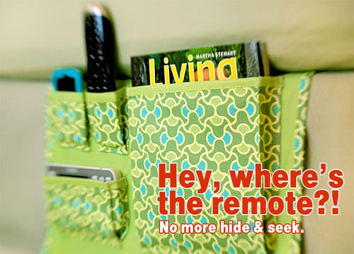 This handy bed caddy will help to keep your nightstand organized.
