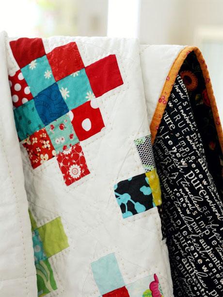 Granny Square Quilt Block -  Free Quilting Tutorial