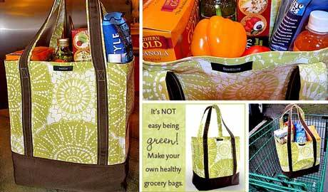 Free Bag Pattern and Tutorial - Grocery Bag