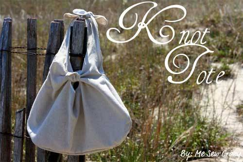 Knot Tote Bag - Free Sewing Tutorial