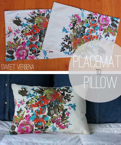 Free Sewing Pattern and Tutorial - Placemat Pillows