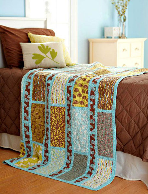 Simple Sashing And Rectangles Quilt Free Quilting