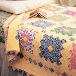 Almost a Flower Garden Quilt – Free Quilt Pattern