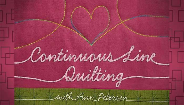 Continuous Line Quilting: Online Quilting Class