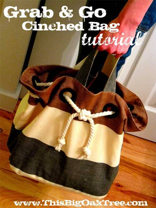 Cinched Rope Bag