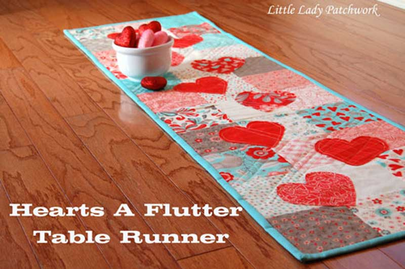 Hearts-A-Flutter Table Topper – Free Sewing Pattern