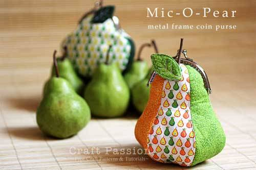 Mic-O-Pear Metal Frame Coin Purse - Free Sewing Pattern