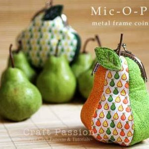 Mic-O-Pear Metal Frame Coin Purse – Free Sewing Pattern