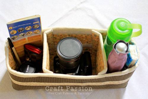 This purse organizer insert is perfect for keeping your belongings organized when traveling.