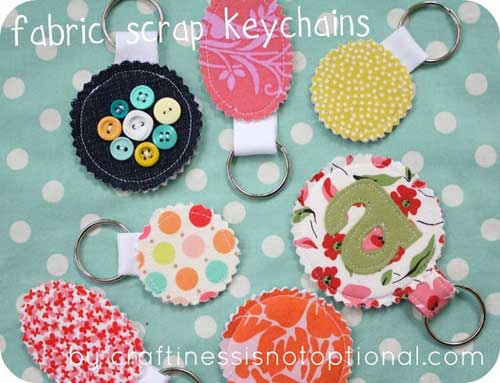 Free Sewing Pattern and Tutorial - Scrap Key Chain
