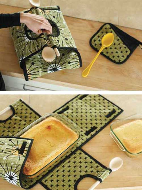 This carrier is insulated and will hold your favorite casserole dish.