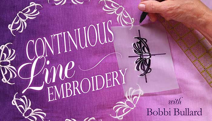 Continuous-Line Embroidery - Online Sewing Class