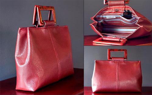 Trendy Faux Leather Handbag