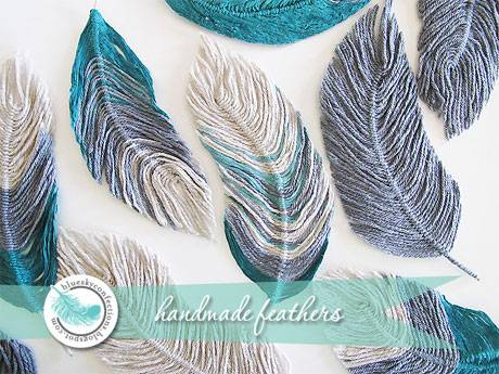Free Tutorial: How to use yarn to make feathers
