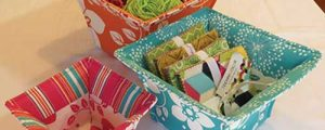 Flared Top Fabric Baskets Sewing Pattern