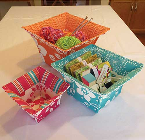 With these fabric baskets, it's just as much about decorating as it is about organizing