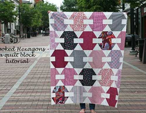 Free Quilt Pattern and Tutorial - Hooked Hexagons Quilt
