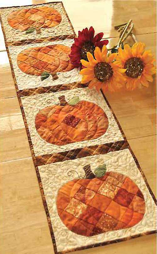 Get ready for autumn with this cute harvest table runner.