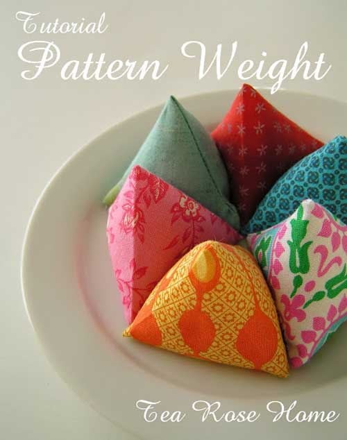 These pattern weights are fun and easy to make.