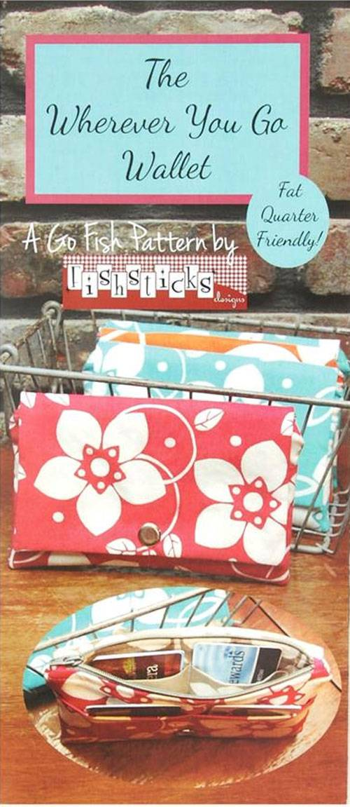 This easy-to-sew wallet is stylish and practical and fat quarter friendly.