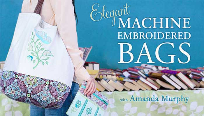 Embellish a custom-sewn tote, clutch, makeup bag and more with marvelous machine-embroidered motifs!