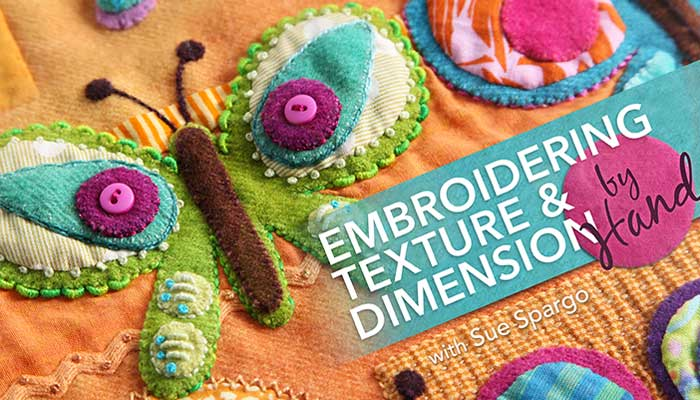 Embroidering Texture & Dimension by Hand Online Class