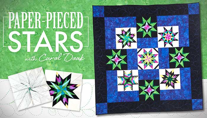 Paper-Pieced Stars Online Quilting Class