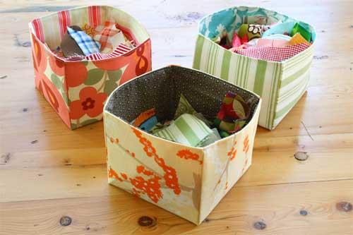 Fabric Scrap Basket - Free Sewing Pattern
