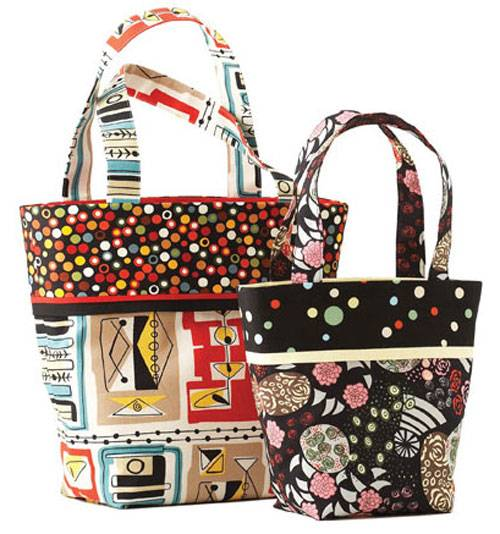 These bags are easy to make and the perfect pattern for beginner sewers.