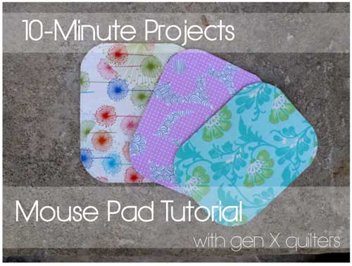 Free Sewing Pattern and Tutorial - Fabric Mouse Pad
