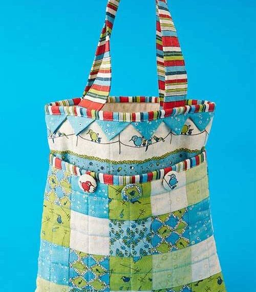 Patchwork and Prairie Points Bag – Free Sewing Pattern